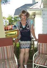 Back to the Present (Laurette Victoria) Tags: wisconsin pose dress milwaukee porch laurette laurettevictoria
