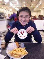 Burgers with smile faces (Sisi. Zhang) Tags: seattle uw smile restaurant washington burger