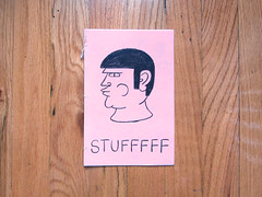 Stufffff cover (randrenfrow) Tags: zine pencil print drawing stuff laser bound