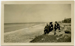 Faceless woman on the shore (Crafty Dogma) Tags: woman snapshot lakeshore faceless vintagephoto