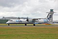G-JECJ DHC-8Q 402 Flybe MAN 10-08-13 (PlanecrazyUK) Tags: man manchester egcc flybe dhc8q402 gjecj