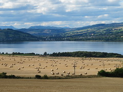Minutes after getting my car from my new home, this is the view of the Cromarty Firth with Dingwall in the background.