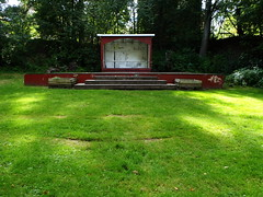 Stage (Eva the Weaver) Tags: building green outdoors empty stage lawn whole