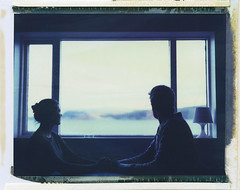We And The Fjords (Bastiank80) Tags: camera trip color film analog polaroid evening iceland we pack land instant converted expired fjords pathfinder 669 110a patreksfjördur bastiank