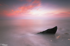 Beware Of The Shark (Dave Brightwell) Tags: longexposure sunset seascape rock canon photography flickr foto coastal hitech redsnapper seaham countydurham chemicalbeach bwnd davebrightwell