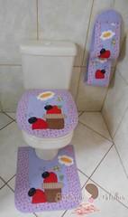 Jogo banheiro joaninha (Juntando Retalhos by Raquel Faleiro) Tags: jogo banheiro