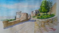 Alcazaba Mlaga (paco tejedor) Tags: espaa spain monumento andalucia panoramica watercolour acuarela andalusia mlaga alcazaba murralla