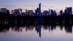 New York desde lago de Central Park