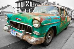 Retro2 (jimj0will) Tags: odt car rusty belaire belair green leighonsea jimj0will jimjowill bangernomics