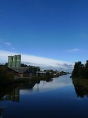 Blue sky above the industrial port (:-) LR) Tags: autumn holland netherlands day herfst nederland overcast silo dag grainelevator noordholland wieringermeer paybas graansilo middenmeer industriehaven hollandskroon meesthelder