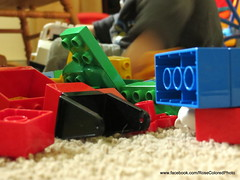 Blocks (Rose Colored Photo) Tags: blue red playing color green colors yellow kids toys grey play lego blocks duplo