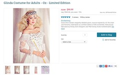 Glinda Costume for Adults - Oz - Limited Edition - US Disney Store Product Page - Clearance Sale - 2013-10-29 (drj1828) Tags: us disneystore ozthegreatandpowerful glindathegood adult costume limitededition le300 clearance