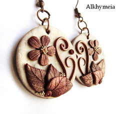 Hidden Nature S20 (Alkhymeia) Tags: wood flowers original autumn flower art fall nature earings leaves foglie spiral leaf woods hand natural artistic blossom handmade spirals unique ooak magic inspired jewelry bijoux jewellery falling polymerclay fimo fairy fantasy clay wicked rest swirl veins foglia bud lovely elegant delicate autunno autumnal enchanted whimsical sculpted wiccan elvish polymer premo arcilla argilla orecchini polimer sintetica polimerica arrings werable alkhymeia alkimeia alkhimeia