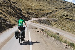 An odd hairpin bend near Huancavelica