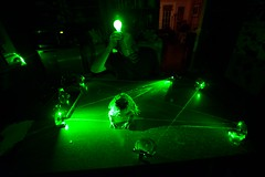 Playing with my green laser (lomeranger) Tags: green toad laser