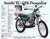 1973 Suzuki TC125K brochure