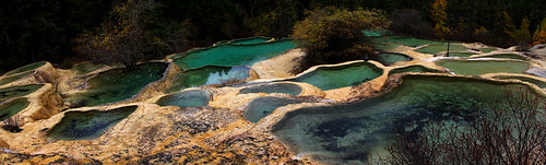 4586 The pools of Huanglong--Sichuan Province , China