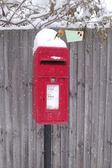 DUC #734 - YOUR FIRST CHRISTMAS CARD! (mark_rutley) Tags: christmas winter snow bird robin mailbox stamps manipulation postbox christmascard downunderchallenge
