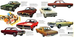 1969 Chrysler Dodge Plymouth line (Rickster G) Tags: 1969 car ads 1971 flyer 60s muscle satellite plymouth convertible literature 1967 demon 70s dodge 1970 1968 hemi mopar gt sales 1972 brochure dart barracuda 440 1973 charger swinger rallye compact dealer 426 383 scatpack