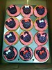 Minnie Mouse Cupcakes (Heartlover1717) Tags: pink red white sparkles cupcakes sprinkles 12 minniemouse oreos snackcake muffintin pinkfrosting doublestuf heartshapedcandy minioreos