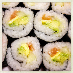 Salmon Roll Sushi (Evan MacPhail Photography) Tags: food sushi photography cucumber egg salmon roll smoked avacodo hipstamatic
