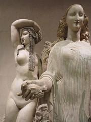 bird in her hand (squeezemonkey) Tags: bird portugal statue museum women lisbon artdeco 1919 beauties museucaloustegulbenkian alfredauguste homagetospring