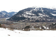 Le Villaret - Bourg-Saint-Maurice (France) (Meteorry) Tags: winter snow france mountains alps alpes europe hiking hiver trail neige february savoie viewpoint vue pointdevue bourgstmaurice montagnes lesarcs 2014 rhonealpes bourgsaintmaurice paradiski rhnealpes meteorry levillaret