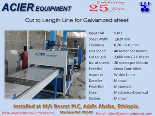 Cut to Length Line for GI sheet for corrugated roofing sheet
