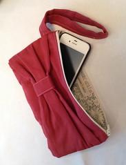 bow clutch zipper pouch wristlet (stephzerbeART) Tags: handmade wallet sewing gift clutch wristlet zipperpouch