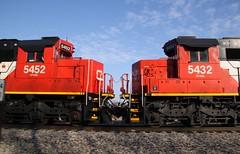 CN 5452 - CN 5432 (Cool~Yooper~Dude) Tags: oakway cnlocomotive emdsd60