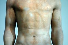 Anavysos Kouros, detail with torso, c. 530 B.C.E.