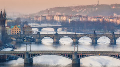 Bridges of Prague (blichb) Tags: river prague prag praha tschechien tschechischerepublik czechrepublic brcke fluss brcken 2014 moldau karlsbrcke mygearandme mygearandmepremium mygearandmebronze blichb olympusomdem1