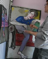composition & process (Gila Mosaics n'stuff) Tags: portrait feet painting photography artist acrylic hand workinprogress figure gilamosaics 52frames