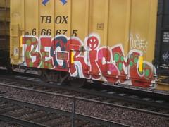 BEGRISM (Billy Danze.) Tags: chicago graffiti d30 freight begr