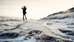 Waiting man (1000LiterFotos) Tags: schnee strand sand insel mann sylt eis nordsee warten