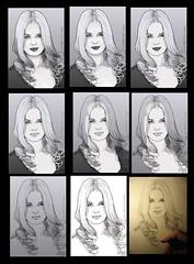 201404172343 (lindenb) Tags: portrait art face illustration pen paper sketch artwork hand drawing retrato femme gimp dessin fille visage onedrawingaday