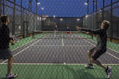 Return (Jonathan Lurie) Tags: low platform paddle tennis bounce league winnetka paddletennis platformtennis wptc lowbounce