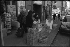 Fruit shopping, China Town Seattle (sailronin) Tags: seattle film vegetables analog washington chinatown streetphotography sidewalk boxes internationaldistrict leicam7 jacksonstreet hc110b aristapremium400