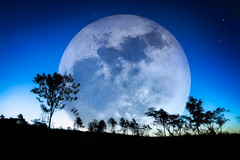 Big Moon (Patrick Foto ;)) Tags: christmas new morning blue light wallpaper sky cloud moon holiday snow black color