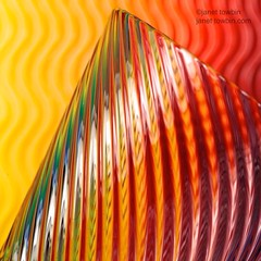 Swirled Glasstract (j.towbin ©) Tags: orange abstract glass lines yellow rainbow colorful stripes multicolor allrightsreserved© glasstract