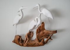 My Father's Art (KWPashuk) Tags: samsung galaxy note5 lightroom kwpashuk kevinpashuk carving bird art egrets driftwood