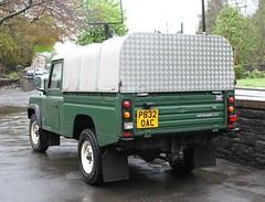 Land Rover Defender 110 P832OAC Ivor Williams Top ex Demonstrator   18052013 024 (Frank Hilton.) Tags: classictruck truckpictures truckphotos frankhilton northwesttrucks historicclassiccommercials 18052013