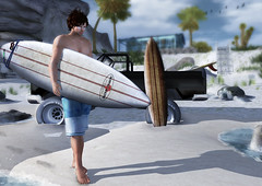 Jac M. (-Coral-) Tags: life beach 3d surfer avatar sl secondlife virtual second