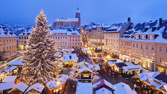 Wallpapers (vinhpz0) Tags: christmas winter mountain snow night germany europe seasons market saxony decoration nobody christmasmarket christmasdecorations customsandcelebrations openairmarket viewfromabove mountainrange erzgebirge centraleurope urbanscene annabergbuchholz fichtelberg flickrandroidapp:filter=none