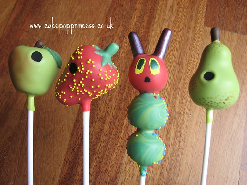 Very Hungry Caterpillar VHC cake pops