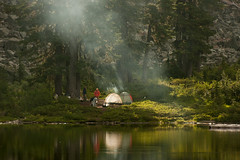 Anderson Lake in the cascades (mind candy06) Tags: camping lake mountains nature water fun outdoors washington hiking naturallight mtbaker 2012 northcascades andersonlake outdoorphotography mindcandy06