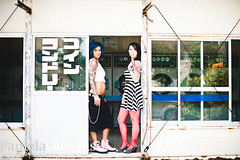 My beautiful Laundrette (ukreal1) Tags: portrait urban tattoo rebel 50mm graffiti nikon women punk lol tattoos okinawa punks edgy milfs tattoogirls d700