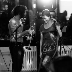Summer Music (Phonatics) Tags: light summer music white black switzerland nikon shadows theatre lausanne electro squared arsenic vocal d300 marcoberrettini mariecarolinehominal samuelpajand