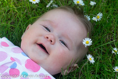 Eva May, on the grass
