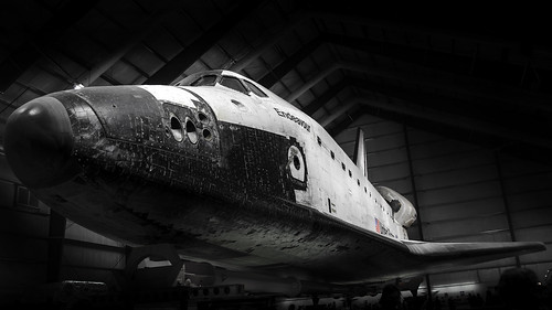 The space shuttle Endeavor